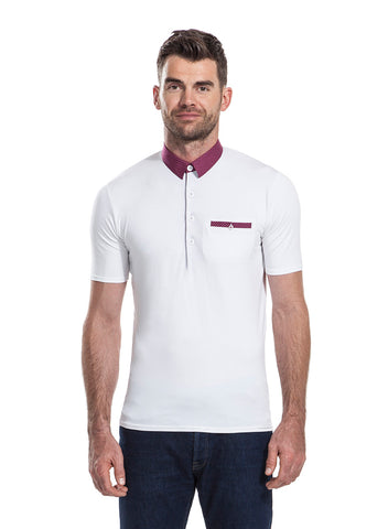 Sandy Lane white polo shirt from the James Anderson Collection