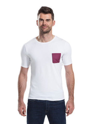 Pendle white t-shirt from the James Anderson Collection