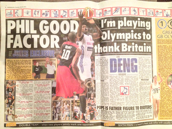 Phil Jones and Luol Deng in The Sun