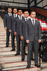 Widnes Vikings in their bespoke suits and club ties