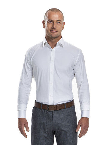 Athletic slim fit Bo White Shirt