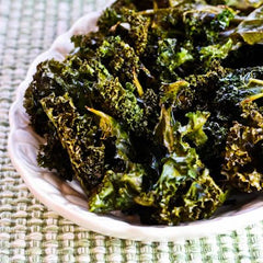 Oven baked kale