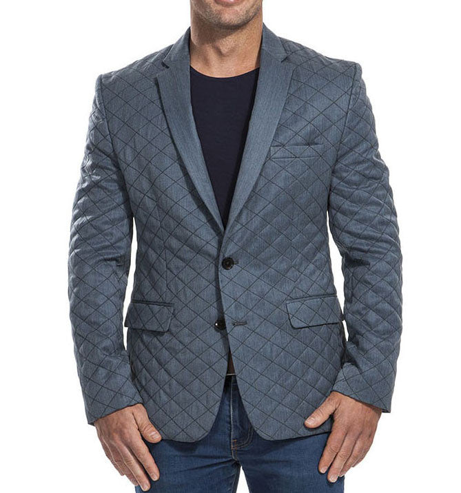 Donnelly Blue Quilted Blazer