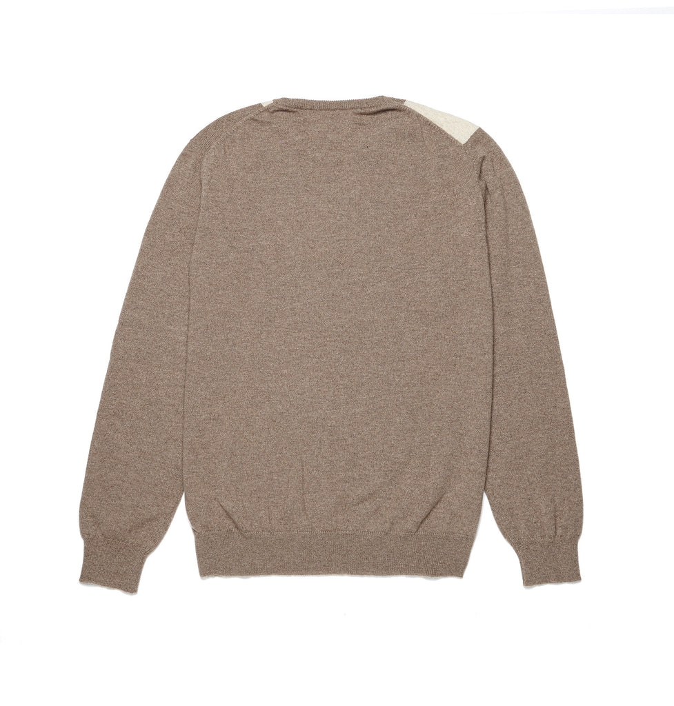 Battenburg Brown Cashmere Jumper