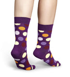 Purple Big Dot Mens Happy Socks