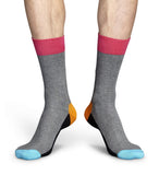 Five Colour Grey Mens Happy Socks