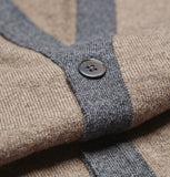 Kew Brown Cashmere Cardigan