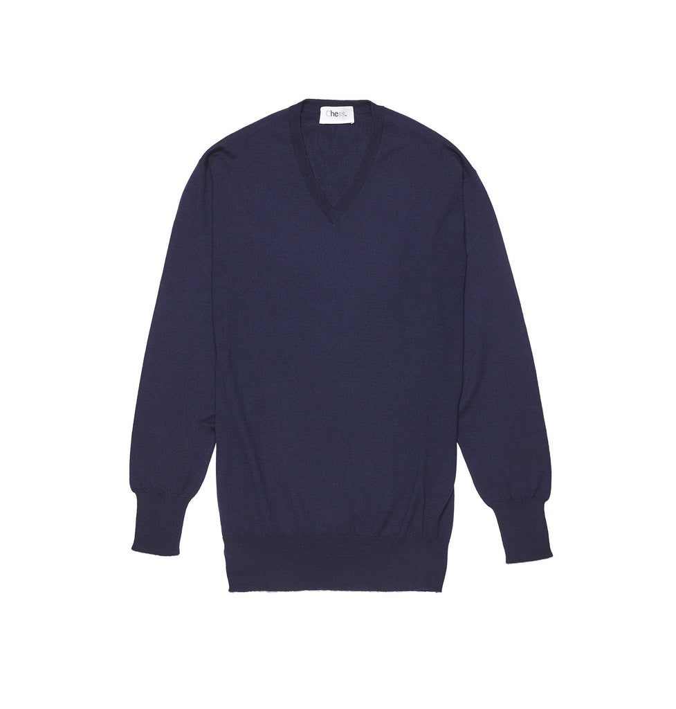 Malden Navy Cashmere Jumper