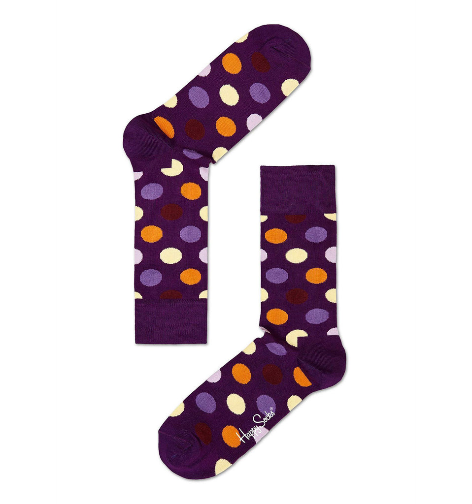 Purple Big Dot Happy Socks