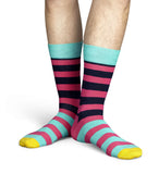 Blue, White and Red Stripe Mens Happy Socks