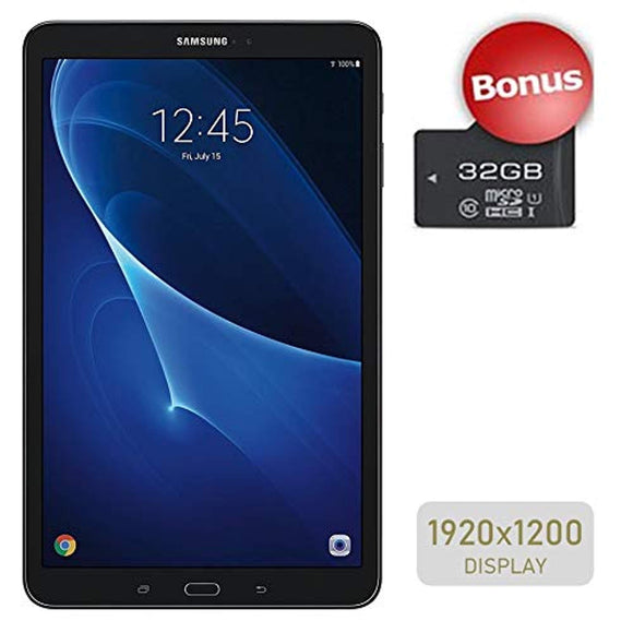 Samsung Galaxy Tab A 10.1'' Touchscreen (1920x1200) Wi-Fi Tablet, Octa-Core 1.6GHz Processor, 2GB RAM, 16GB Memory, Dual Cameras, Bluetooth, 32GB MicroSD Card, Android OS, Choose Your MicroSD