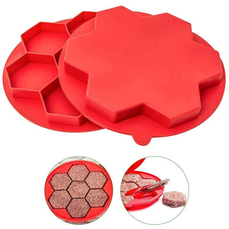 Hexagonal Burger Meat Mold