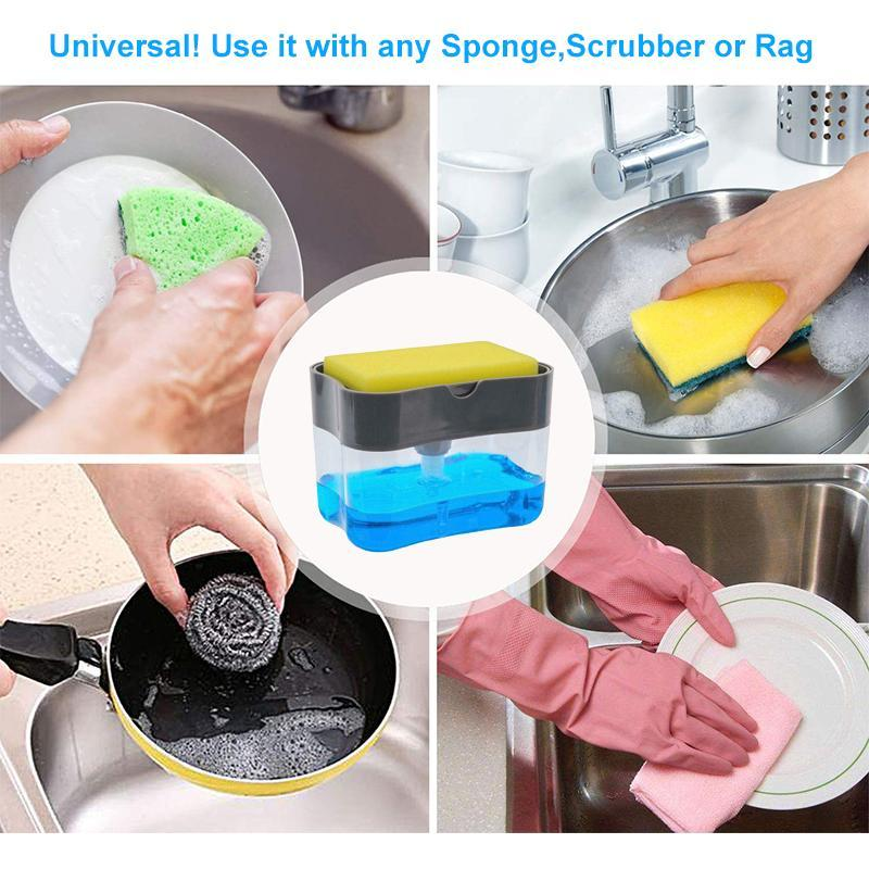 Soap Dispenser And Sponge Holder