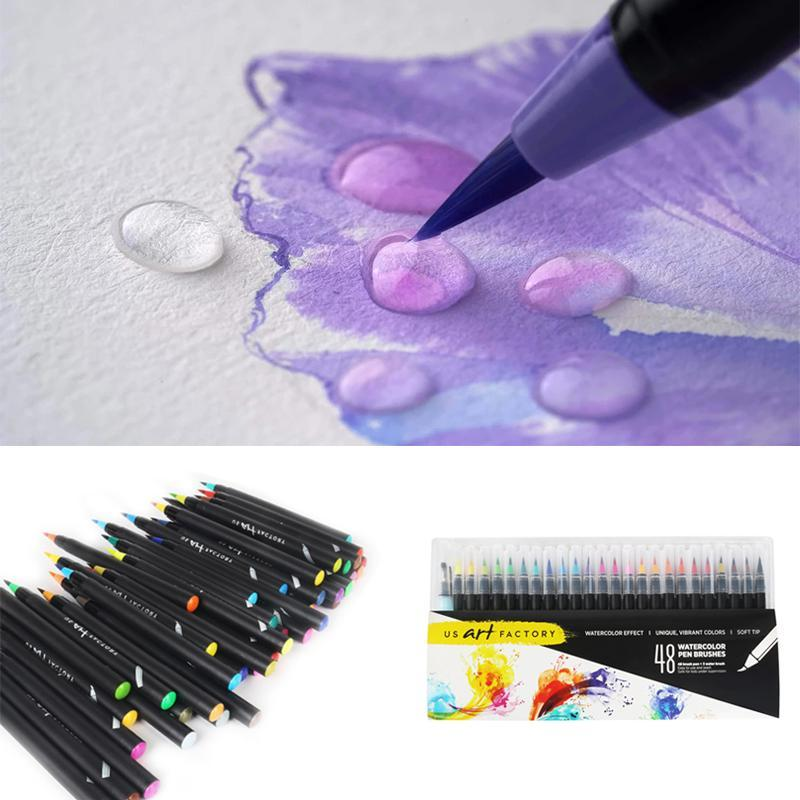 Real Brush Pens - Set of 48 colors