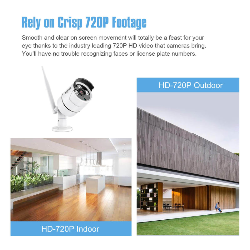 1080P Wi-Fi Video Security System with 10.1'' LCD Screen