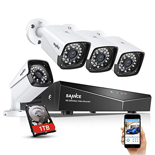 4 Channel 4 Camera 1080p PoE NVR Security System with HDD