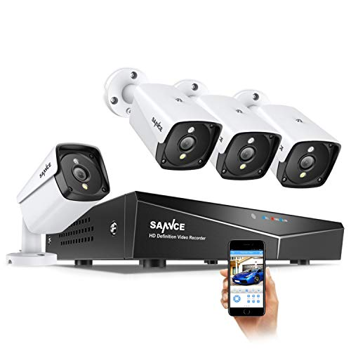 4 X 5MP POE Security Camera System for 24/7 Recording