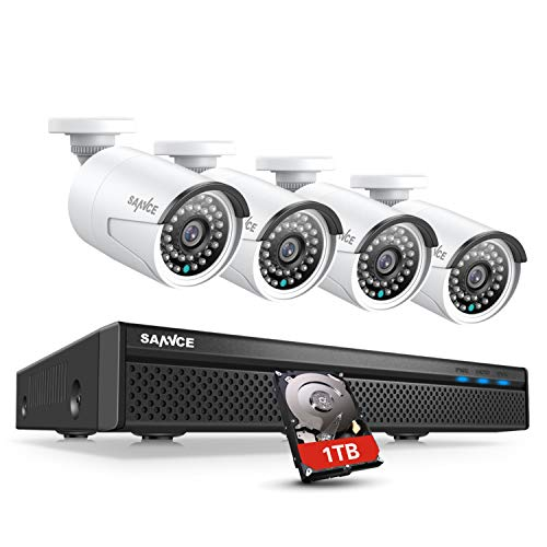 5MP 8CH 1TB POE Security Camera System with 4x2MP Cameras