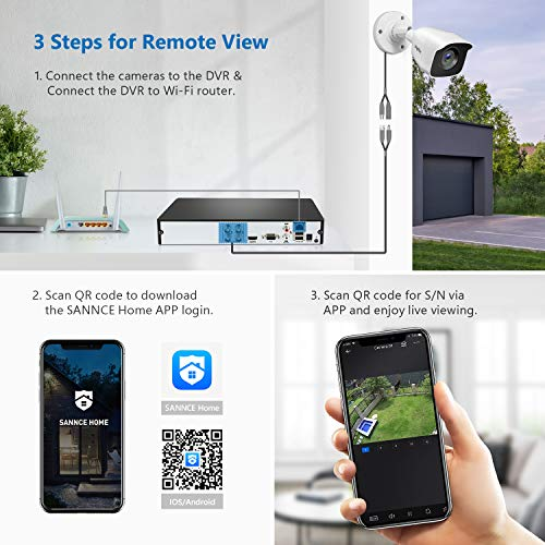 4CH 1080P Lite Security Camera System