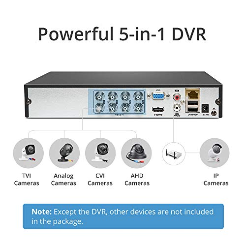 8 Channel 1080p Lite 5-in-1 DVR Recorder