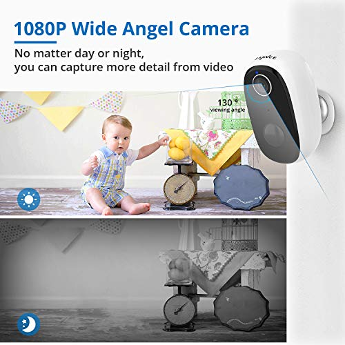 1080p Wireless Battery-Powered IP Security Camera