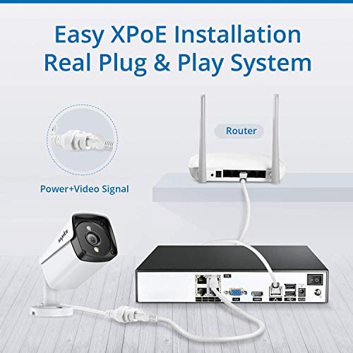 4 Camera 4 Channel 5MP PoE IP NVR Security System