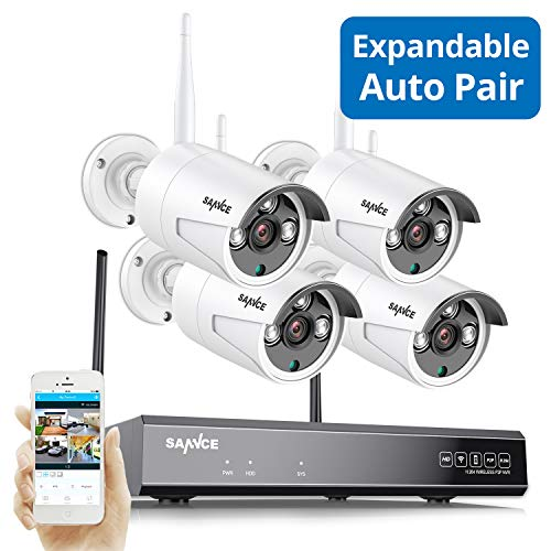 8-Channel 4 Camera Wireless 1080p NVR Security System