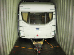 A caravan ready to be safely transported