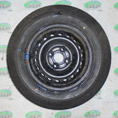 Steel wheel & tyre; 165/80 R13, 4 Stud