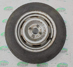 Steel wheel & tyre; 145 R13, 4 Stud