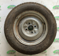 Steel wheel & tyre; 155 R13, 4 Stud