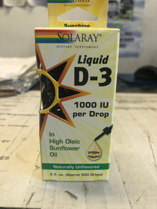 Solaray Vitamin D-3 Drops