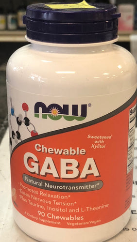 NOW GABA chewable:90 count