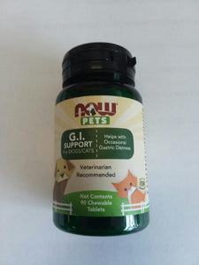 NOW Pets G.I Support 90 Chewable Tablets