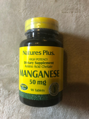Nature's Plus Manganese 90 Tablets