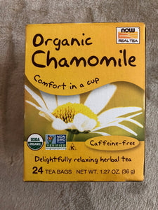 NOW Organic Chamomile 24 Tea Bags