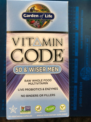 Garden Of Life 50/Wiser Men 120 Veg Capsules
