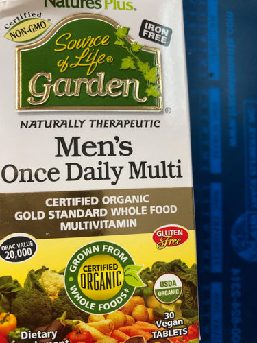 Nature's Plus Source of Life Men's Daily Multi 30 Vegan Tabs
