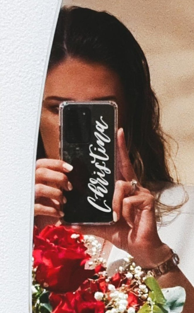 Personalised Clear Single Name Phone Case