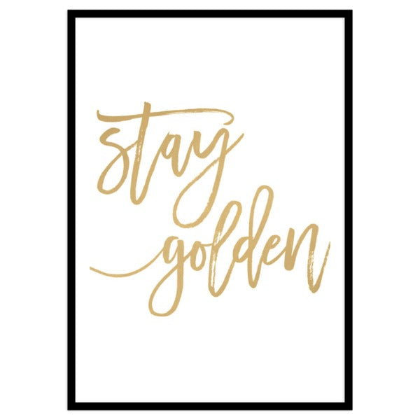 Stay Golden By Vivid Atelier - Portrait Framed Print A4
