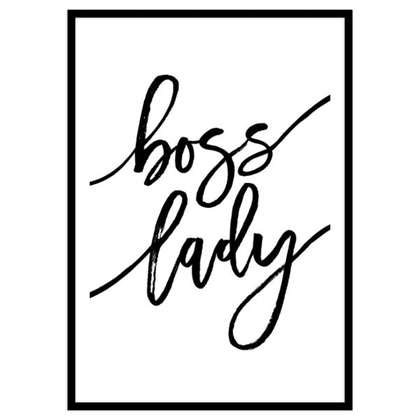 Boss Lady Portrait Framed Print A3