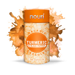 Organic Turmeric and Black Pepper Capsules | 380 Capsules 6 Month Supply | Max Strength 1300mg Curcumin with 20mg Black Pepper Extract