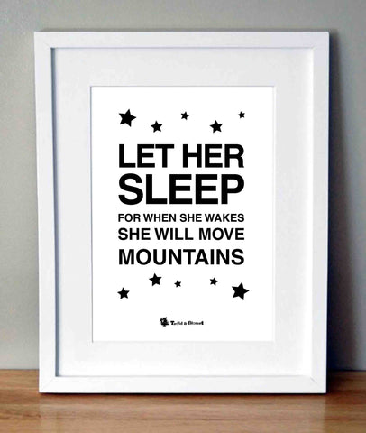 Plakat med citat - Let her sleep