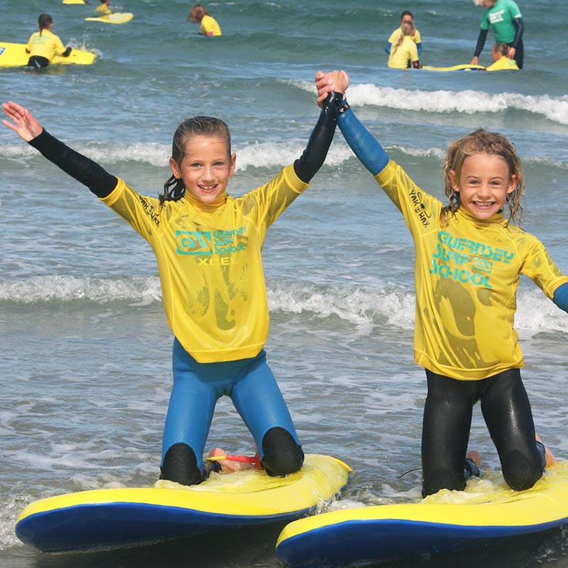 birthday parties with the Guernsey surf school