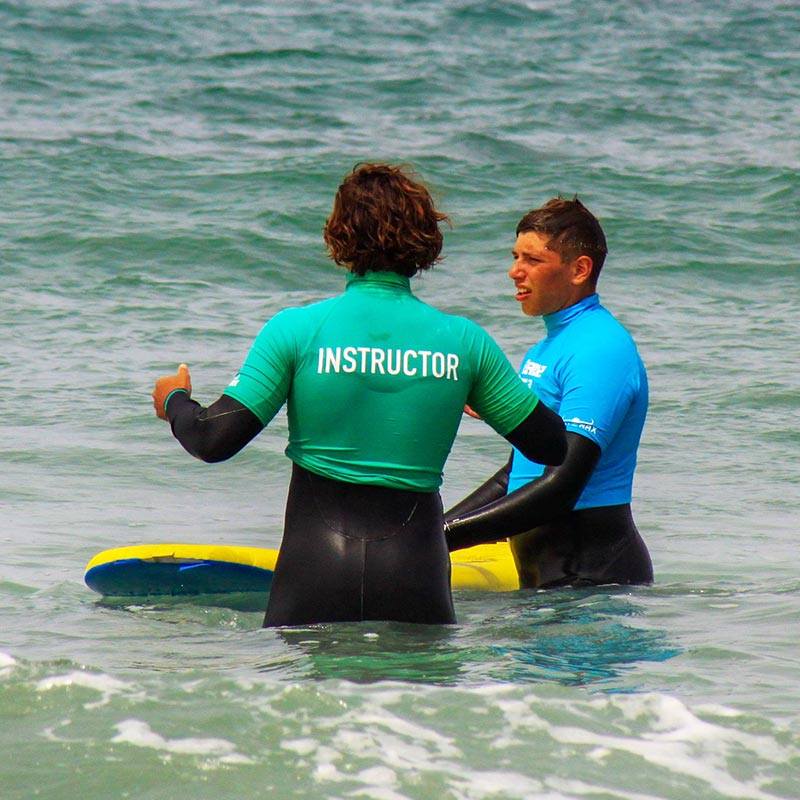 private one to one lessons Guernsey surf school