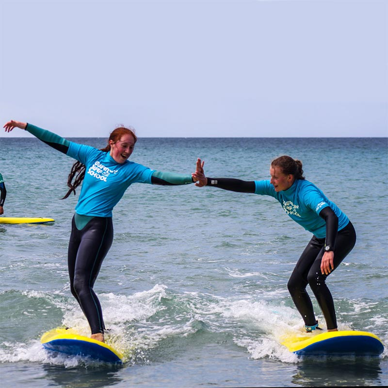 teen camps and course lessons Guernsey surf school