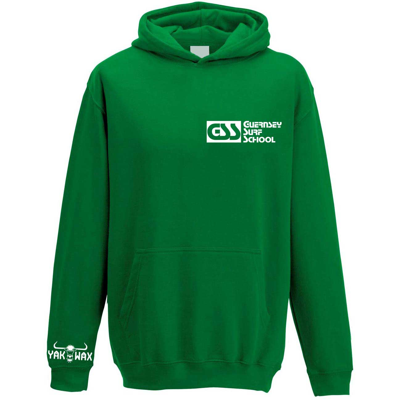 Adults Hoodie GSS Mini OG - 20 Colours Available - S / Kelly Green - Adults OG Mini Hoodie | 20 Colours Available | Guernsey Surf School Adults Hoodie