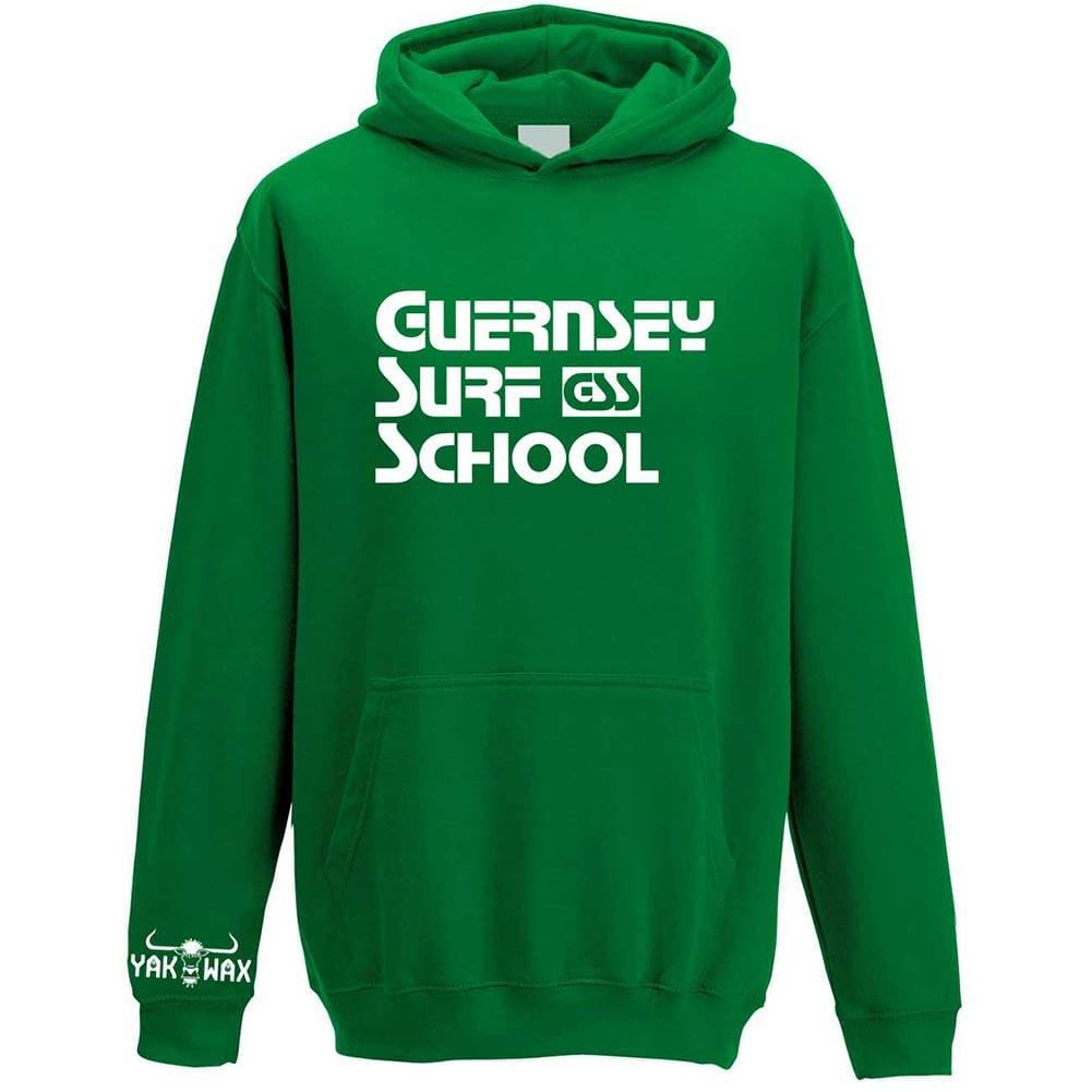 Adults Hoodie GSS Block - 20 Colours Available - S / Kelly Green - Adults Block Hoodie | 20 Colours Available | Guernsey Surf School Adults Hoodie
