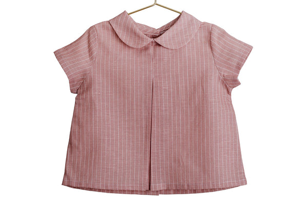 Outlet - Camisa Paul cuello bebé raya rosa