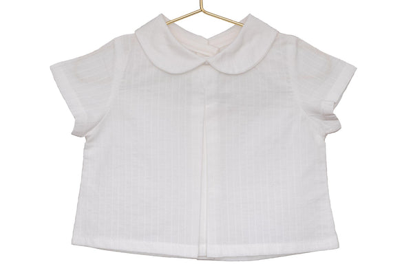 Outlet - Camisa Paul cuello bebé raya blanca